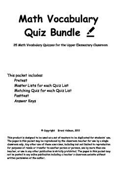 Math Resource Bundle