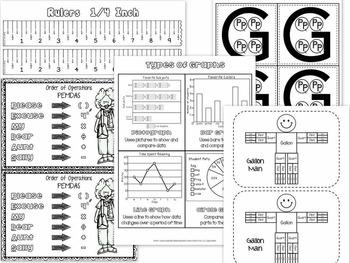Math Resource Bundle - Manipulatives / Tools / Reference Cards / Organizers...