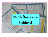 Math Resource Folders - Bilingual English and Spanish