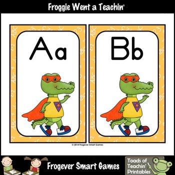 Math Resource--Super Hero Gators Word Wall Headers (orange)