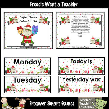 Math Resource -- Super Santa Calendar Set