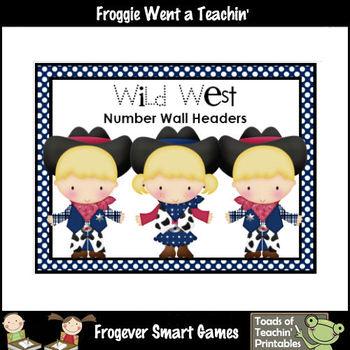 "Number Wall Posters/Headers--Number Sense ""Wild West"""