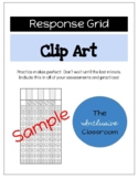 Math FSA Style Response Grid Clip Art and Practice Page