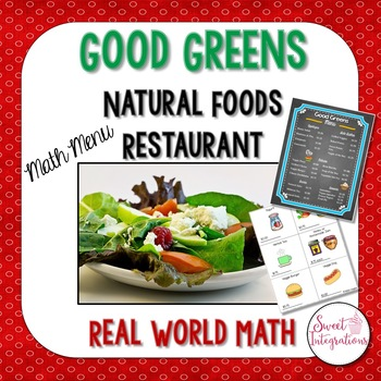 MATH RESTAURANT MENU HEALTH FOOD - Real World Math Grades 3-5