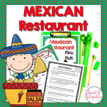 MATH RESTAURANT MENU MEXICAN RESTAURANT - Real World Math Grades 3-5