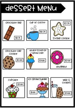 Math Restaurants Activities