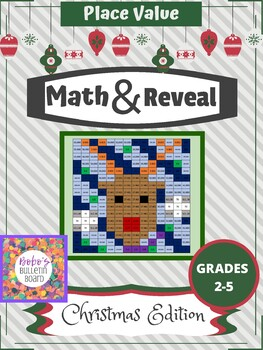 Math & Reveal Place Value - Christmas Edition