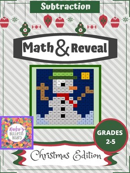 Math & Reveal Subtraction - Christmas Edition