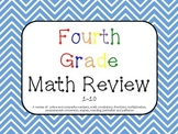 Math Review 1-10 Common Core aligned