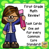 Math Review - 1st Grade - Task Cards - Every Common Core Skill!  Test Prep!