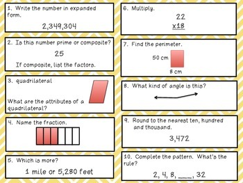 Math Review 21-30 Common Core aligned
