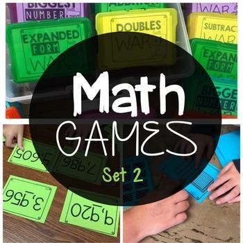 Math Games 2nd Grade Set 2