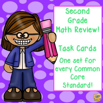 2nd Grade - Math Task Cards - Every Common Core Skill!  Test Prep!