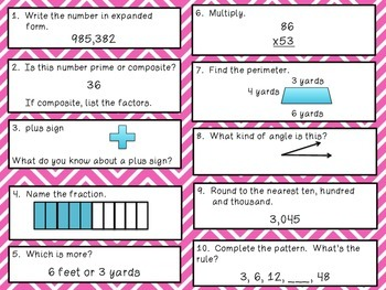 Math Review 31-40 Common Core aligned