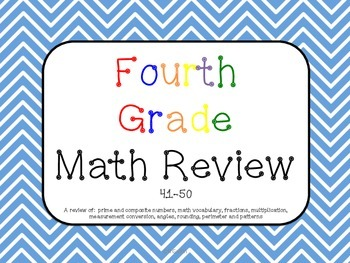 Math Review 41-50 Common Core aligned