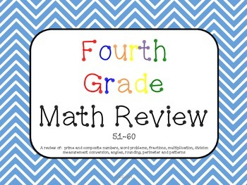 Math Review 51-60 Common Core Aligned
