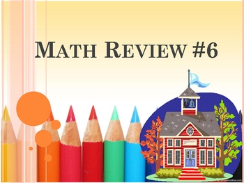 Math Review #6 - 20 Questions