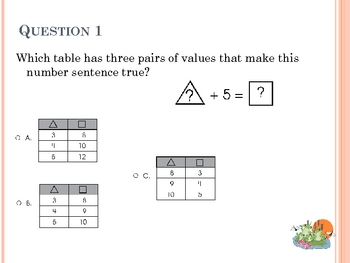 Math Review #8 - 20 Questions