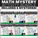 Math Review Activity Bundle for 4th and 5th Grade Problem Solving and Fraction