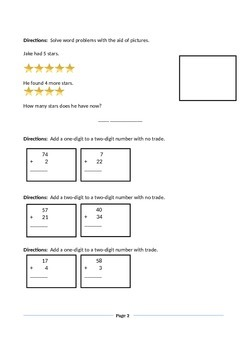 Math Review Add One Digit or Two Digit without Trade