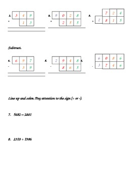 Math Review-Addition (2nd, 3rd, 4th Grades)-FREE!