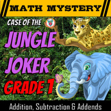 Addition, Subtraction & Missing Addends - Math Mystery: Ca