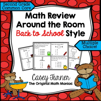 Math Review Around the Room Back to School Style: Second Grade Common Core