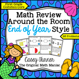Math Review Around the Room End of Year Style: First Grade Common Core