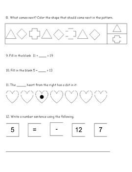 Math Review/Assessment