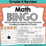 End of Year Math BINGO Grade 4