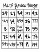 Math Review Bingo
