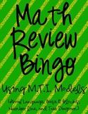 Math Review Bingo Using MTI Models