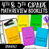 4th and 5th Grade Math Review Booklets {Bundle}