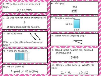 Math Review Bundle 1-50 Common Core aligned