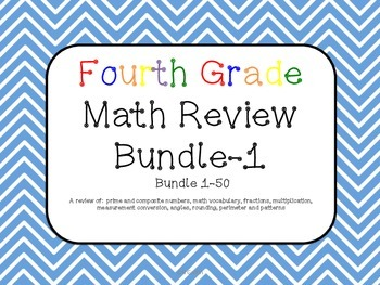 Math Review Bundle 1-50 Common Core aligned