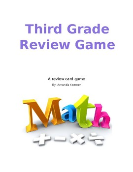 Math Review Card Game