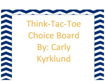 Math Review Choice Board