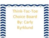 Math Review Choice Board