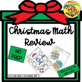 Christmas Math Review Activities TEKS 6.7A, 6.7B, 6.10A