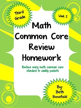 Math Review Common Core Homework Packet-Week 2