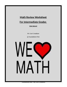 Math Review - Comprehensive Intermediate Skills