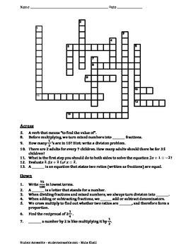 Review Crossword Puzzle III