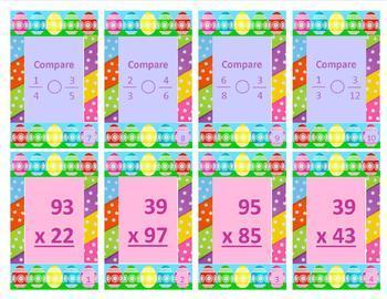 Math Review Easter Egg Hunt Task Cards