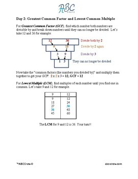 Math Review Fifth Grade & Level Up to Sixth Grade