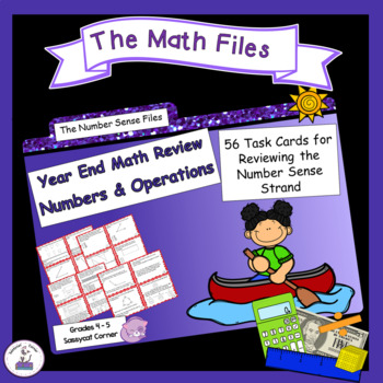 Math Review Files - Numbers and Operations Task Cards