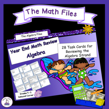 Algebra Strand Review and Test Prep Task Cards