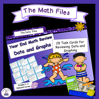Math Review Files - Data and Graphs Task Cards