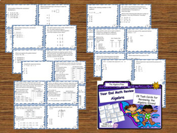Math Review Files - End of the Year Math Test Review Bundle