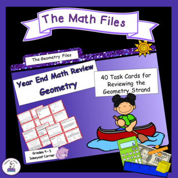 Math Review Files - Geometry Review Task Cards