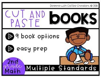 NO PREP! 2nd Grade Math Cut & Paste Books